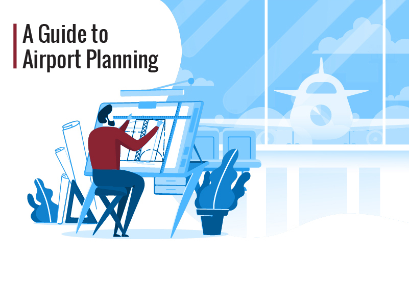 """An illustration with the text """"a guide to airport planning."""""""